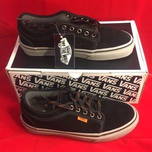 Vans Chukka Low Black/Grey/Orange Men's 7